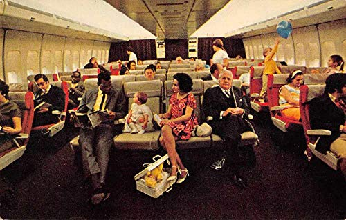 - Pan Am 747 Airplane Cabin Interior Vintage Postcard JA4742295