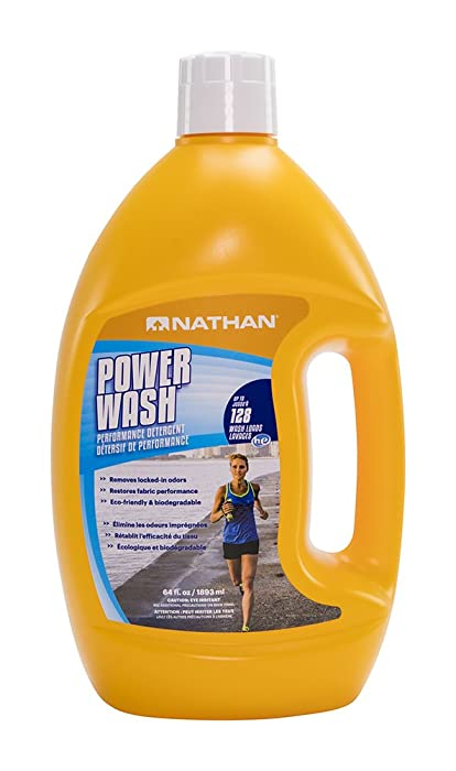 Nathan Sport Power Wash Laundry Detergent, Sport Detergent for Performance Athletic Wear, Natural & Eco-Friendly