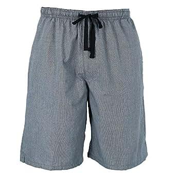 Hanes Men's Cotton Madras Drawstring Sleep Pajama Shorts, 2XL, Heather