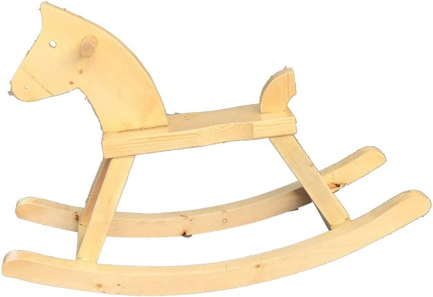 LITING Silla Mecedora de Caballo de Madera Maciza Mecedora de Juguete de Caballo Comercial Centro de Tiro Accesorios