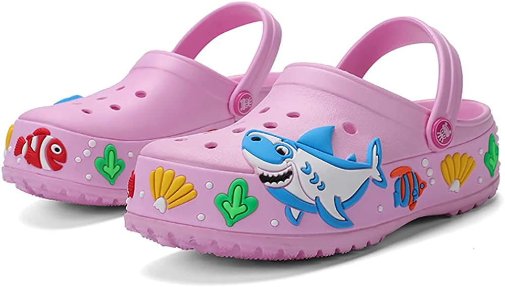 FolHaoth Little Kids Toddlers Clogs Sandals Cute Cartoon Slides Boys Girls Non-Slip Garden Breathable Shoes Children Lightweight Slip-on Beach Pool Shower Slippers
