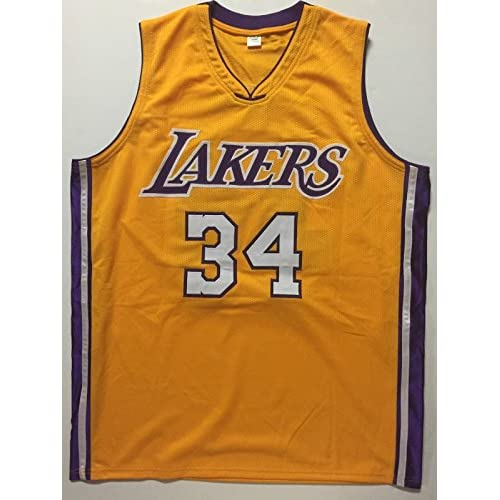 fa399f6e Autographed/Signed Shaquille Shaq O'Neal Los Angeles Lakers LA Yellow  Basketball Jersey JSA