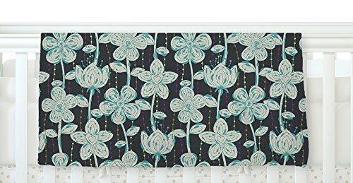 KESS InHouse Julia Grifol My Grey Spotted Flowers Fleece Baby Blanket 40 x 30 [並行輸入品]   B077ZQ2SLV