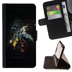 For Samsung Galaxy A5 ( A5000 ) 2014 Version Case , Extracto de Sci Fi Art- la tarjeta de Crédito Slots PU Funda de cuero Monedero caso cubierta de piel