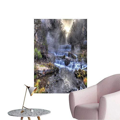 Wall Decorative Colorful Scenic Waterfall in High Dynamic Range. Pictures Wall Art Painting,20