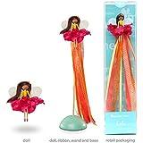 Mönelie Fairy Doll Set - LOLA (Includes a Doll, Ribbon Wand & Stand)