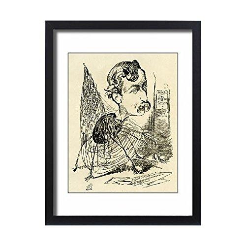 Framed 24x18 Print of Cartoon, Mr Pettitt, The Spider s Web (14400878)