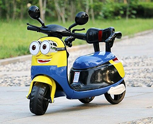 Toy, Play, Game, New Small Yellow Children Electric Three Wheel Motorcycle Can Sit Baby Stroller And Child Battery Car, Kids, Children