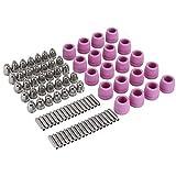 90Pcs/Set Plasma Cutter Torch Consumables Electrode Nozzles Cups Kit,Galvanized Copper,Ceramic