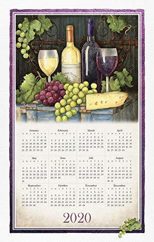 Wine Country 2020 Calendar Towel by Willow Creek Press