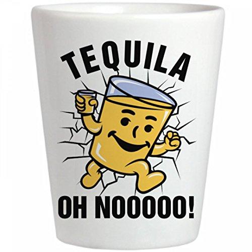 Tequila Oh No: Ceramic Shot Glass - Kool Shot Glasses
