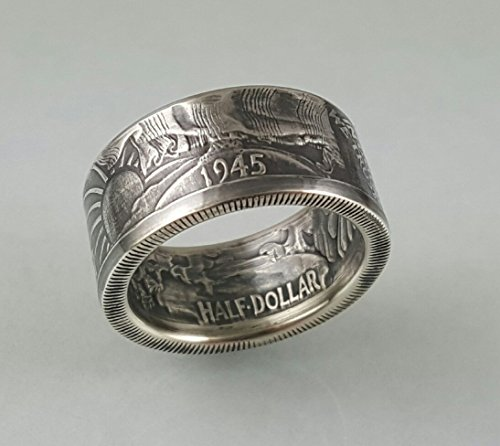 Walking Liberty Silver Coin Ring. (Rings Quarter)