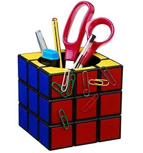 UChic 1PCS Magic Box Pen Holder Magic Color Player Retro Cube Magnetic Desk Tidy Classic Stationery Storage (Creative Color Cubes)