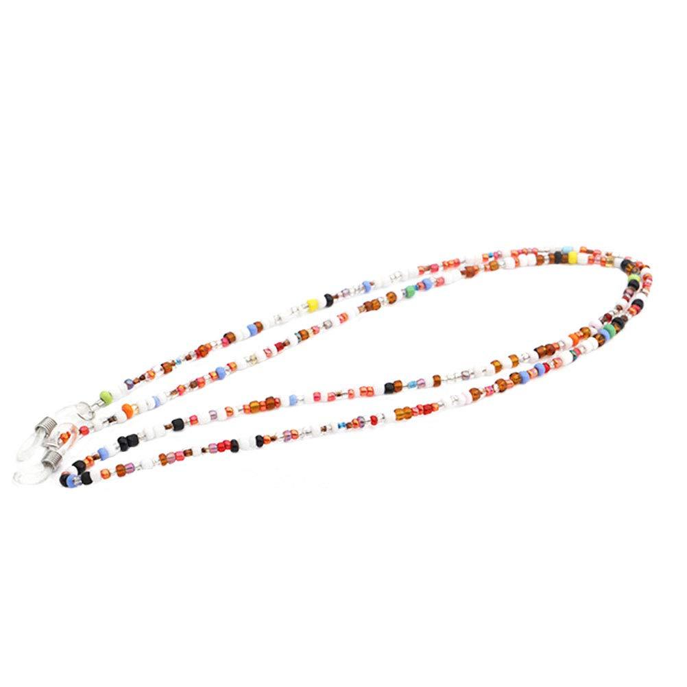 HEALIFTY Bunte Perlen Brillenkette Brillenband Schnü re und Riemen Brillenhalter fü r Frauen (zufä llige Farbe)