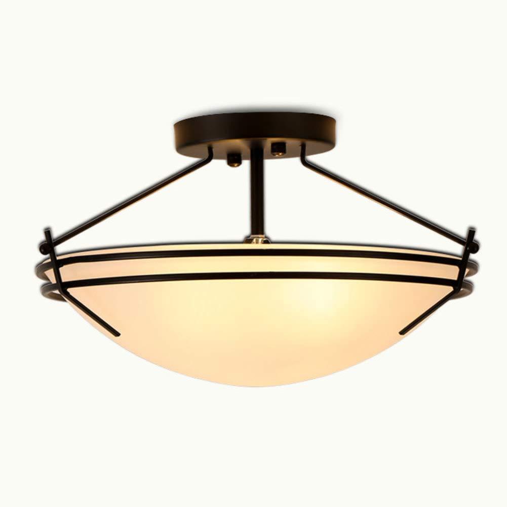 JZMB   Semi Flush Mount Moderne Iron Art Deckenleuchte, Lampenschirme Balkon Licht Deckenleuchte Runde Lichter Schlafzimmer Küche Flur Badezimmer-Weiß 42x27cm