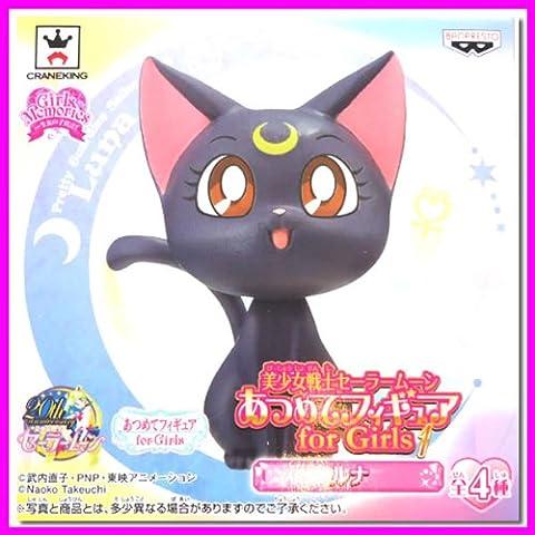 SUPER RARE Sailor Moon 20th Atsumete Figure Doll for Girls LUNA Kawaii JAPAN (Atsumete Sailor Moon)