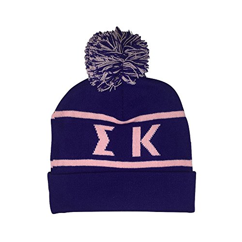 Sigma Kappa Sorority Letter Winter Beanie Hat Greek Cold Weather Winter - New Colors Sig Kap - Kappa Beanie