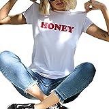 BLACKMYTH Women Summer Short Sleeve Top Tee Graphic Cute T-Shirt White Medium