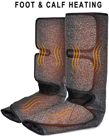 Foot and Calf Massager with Heat, Leg Air Massager for Circulation and Relaxation with Hand-held Controller 6 Modes 3 Intensities (with 2 Extensions) 51Wtxy5fhYL