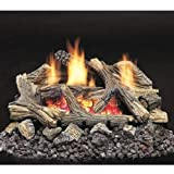 Monessen Aged Hickory Ventless Gas Logs - Remote Ready - 24 inch - Propane