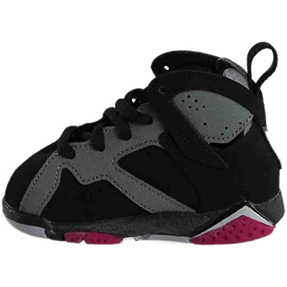first rate 01519 a38fd Amazon.com    705418-008  AIR Jordan AJ 7 Retro GT TD Toddlers Sneakers AIR  JORDANBLACK SPRT FCHS CL Gry WLFM   Sneakers