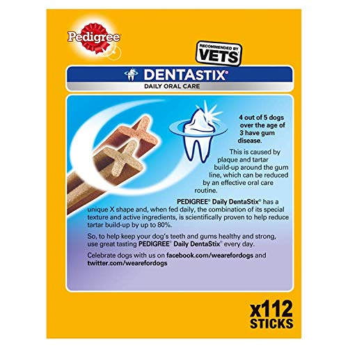 Pedigree Barritas Dentastix Para Perros 4X4X7Pc270Gr 432 Kg 112 Ud Diaria Para Higiene Oral