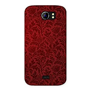 Neo World Vinatge Red Back Case Cover for Micromax Canvas 2 A110
