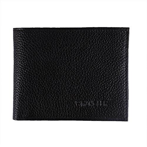 WRANGLER Men #39;s black genuine leather wallet AG 612bl