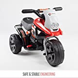 toyzz KIDS MOTORCYCLE MOTOCROSS RIDE ON MOTORBIKE 6V BATTERY CAR BIKE ELECTRIC SCOOTER (Red)