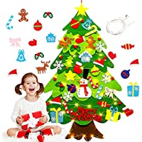Australove DIY Felt Christmas Tree with 20 LED Lights,32pcs Ornaments Christmas Window Door Wall Hanging Decorations…