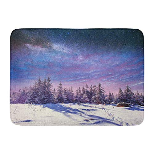 YGUII Doormats Bath Rugs Outdoor/Indoor Door Mat Starry Sky in Winter Snowy Night Fantastic Milky Way The New Year Eve Anticipation of Holiday Bathroom Decor Rug Bath Mat 16X23.6in (40x60cm) (Milky Flat Way)
