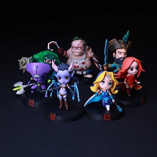 7pcs/Set Dota 2 Game Figure SLARK TINY Doom Boxed PVC Action Figures Collection dota2 Toys