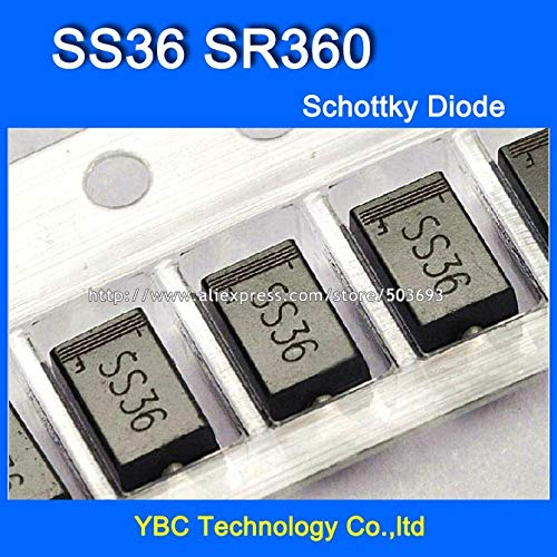 MAO YEYE 500pcs/lot SS36 SR360 3A/60V Schottky Diode