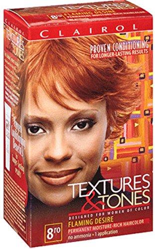 Clairol Textures & Tones 8RO Flaming Desire, 1 (Tones Permanent Moisture)