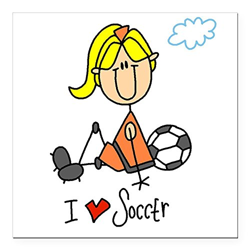 - CafePress - 2-girlsoccerfour.png Square Car Magnet 3