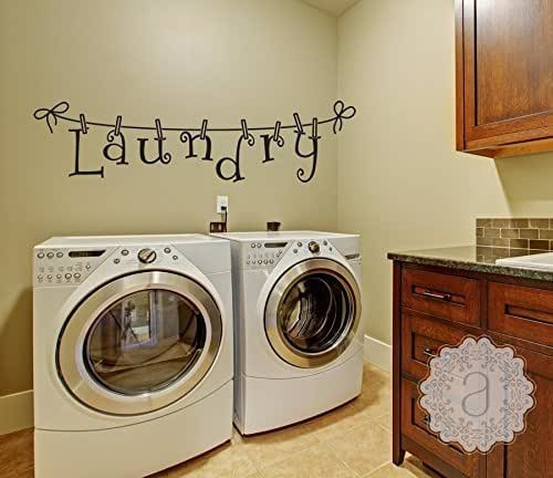 Amazon.com: Laundry Room Decor Wall Decal Wall Quote ...