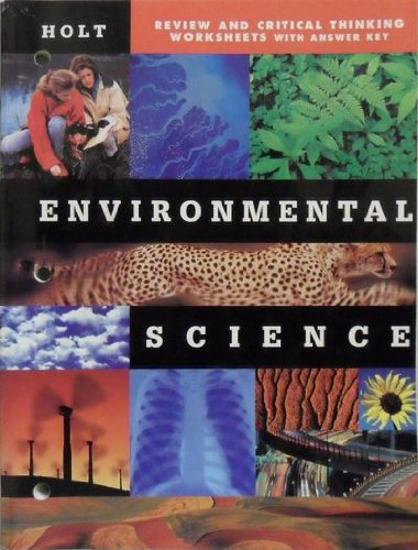 Environmental Science Review and Critical Thinking Worksheets with Answer Key