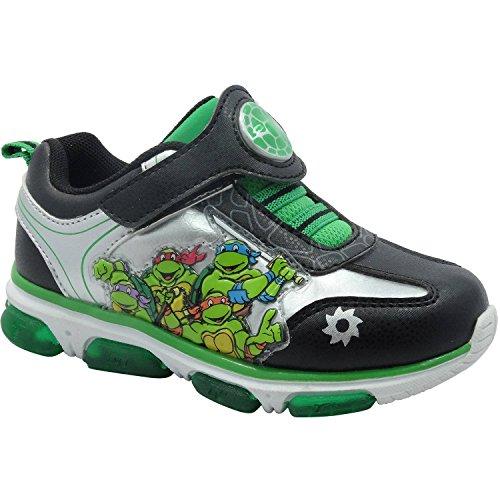 Teenage Mutant Ninja Turtles TMNT Boys Toddler Light Up Sneakers Shoes (12) (Ninja Turtles Who Is Who)