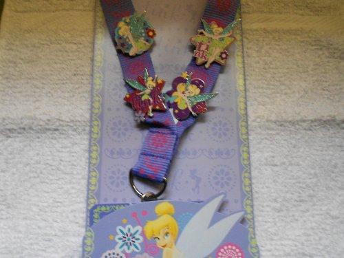 Disney Tinkerbell Lanyard & 4 Pins Starter Pin Trading Set