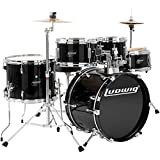 Ludwig Junior 5 Piece Drum Set with Cymbals (Black)