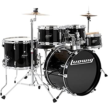 gammon percussion full size complete adult 5 piece drum set with cymbals stands. Black Bedroom Furniture Sets. Home Design Ideas