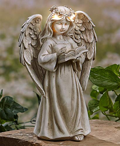 The Lakeside Collection Garden Angels with Solar Halos - Book]()