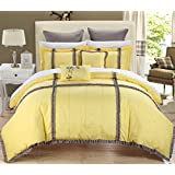 Chic Home Legend 7-Piece Comforter Set, King, Yellow