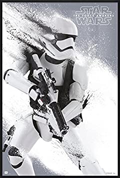 Star Wars Episode VII – The Force Awakens – Framed Movie Poster Print Stormtrooper Size 24 inches x 36 inches