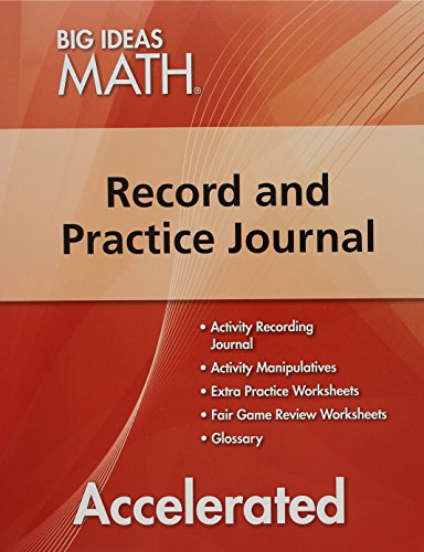BIG IDEAS MATH Accelerated: Record & Practice Journal Red/Course 2