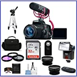 Canon EOS Rebel T6i DSLR Camera with 18-55mm Lens Video Creator Kit & + Telephoto & Wide Angle Lenses + more ...