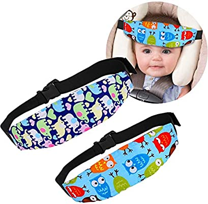 2 Pack Baby Car Seat Head Support Band Strap for Car Seats Stroller Headrest and