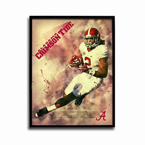 Alabama Crimson Tide Derrick Henry Crimson Rush 24x18 Football Poster Authentic Team Spirit Store Product (Ncaa Poster)