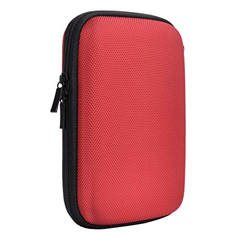 Hard Travel Carrying Case for Seagate Expansion,Backup Plus Slim,WD Elements,My Passport,Toshiba Canvio Basics Portable External Hard Drive,Electronics Organizer (Red) by Natiker (Image #4)