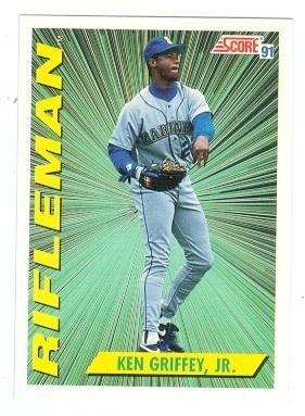 Amazoncom Ken Griffey Jr Baseball Card Seattle Mariners 1991